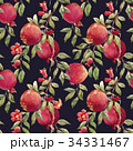 実 シームレス 花のイラスト 34331467