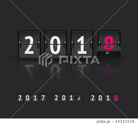 New Year countdown vector banner 34332526