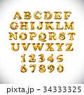 バルーン 風船 金のイラスト 34333325