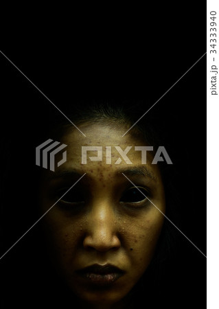 Female ghost face on Alawan 34333940