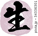 生 筆文字 文字のイラスト 34336301