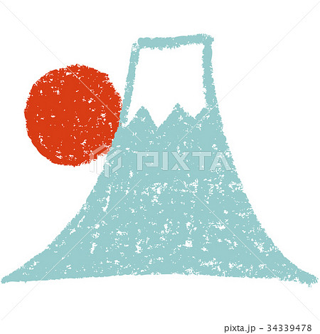 年賀素材・富士山 34339478