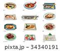 食べ物 総菜 日本料理のイラスト 34340191