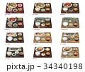 食べ物 定食 日本食のイラスト 34340198