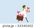 セール ショッピング 女性のイラスト 34340402