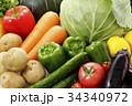 野菜 食材 緑黄色野菜の写真 34340972