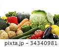 野菜 食材 緑黄色野菜の写真 34340981