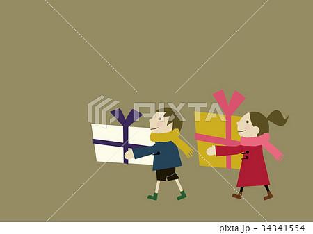 プレゼントを持った子供 34341554