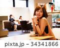 女性 カフェ 人物の写真 34341866