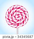 お菓子 アメ菓子 キャンディーのイラスト 34345687