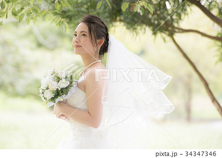 b0d154e5eb8a9 ウェディングドレスの女性 ブライダル 花嫁の写真素材  34347346  - PIXTA