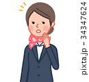 女性 人物 スーツのイラスト 34347624