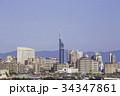 福岡 街並み 福岡タワーの写真 34347861