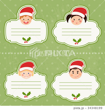 Vector set of funny christmas gift tags with kids vector set of funny christmas gift tags with kids negle Choice Image