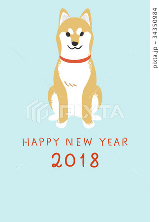 年賀状テンプレート・柴犬 34350984