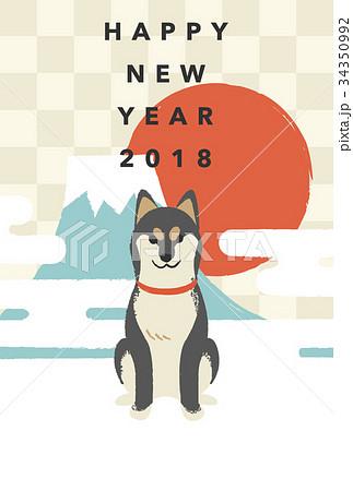 年賀状テンプレート・柴犬 34350992