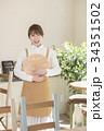 カフェ カフェ店員 喫茶店の写真 34351502