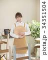カフェ カフェ店員 喫茶店の写真 34351504