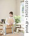 カフェ カフェ店員 喫茶店の写真 34351510