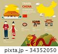チャイナ 中国 デザインのイラスト 34352050