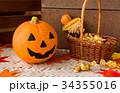 ハロウィン カボチャ お菓子 おもちゃカボチャ ハロウィーンイメージ 34355016