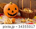 ハロウィン カボチャ お菓子 おもちゃカボチャ ハロウィーンイメージ 34355017