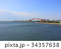 木更津市 中の島大橋 海の写真 34357638