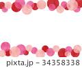 フレーム 枠 水玉のイラスト 34358338
