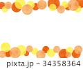 フレーム 枠 水玉のイラスト 34358364