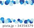 フレーム 枠 水玉のイラスト 34358379