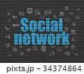 バックグラウンド アイコン ネットワークのイラスト 34374864