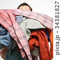stack pile of clothes 34381827