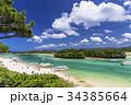 川平湾 海 船の写真 34385664