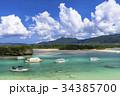 川平湾 海 船の写真 34385700