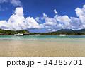川平湾 海 船の写真 34385701