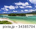 川平湾 海 船の写真 34385704