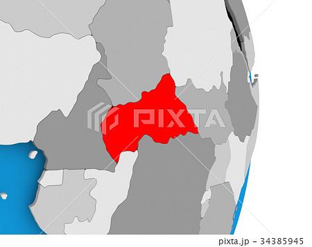 central africa on globeのイラスト素材 34385945 pixta