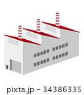 3D 建物 工場 倉庫 34386335