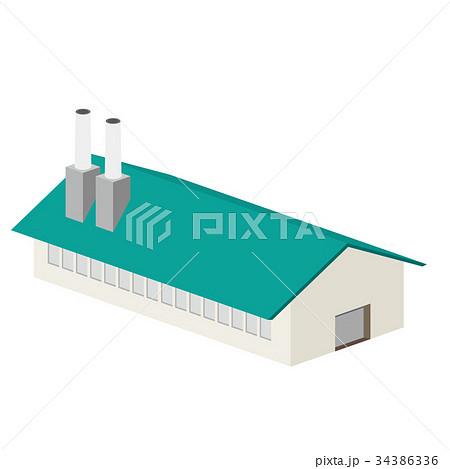 3D 建物 工場 倉庫 34386336