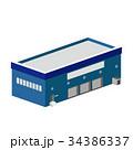 3D 建物 工場 倉庫 34386337