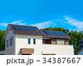青空と新築エコハウス 34387667