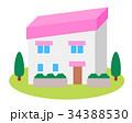 家 住宅 一戸建てのイラスト 34388530