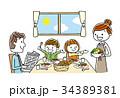 家族:食事、食卓、朝食 34389381