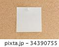 コルクボードとメモ用紙(白色) 34390755