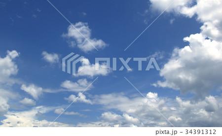 Blue sky white clouds 34391312
