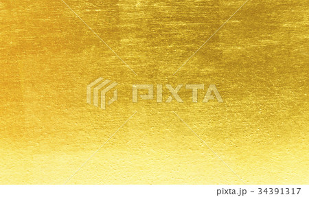 Shiny yellow leaf gold foil texture 34391317