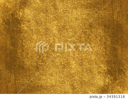 Shiny yellow leaf gold foil texture 34391318