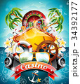 Vector illustration on a casino theme roulette 34392177