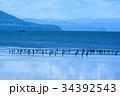 サロマ湖 湖 北海道の写真 34392543