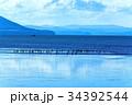 サロマ湖 湖 北海道の写真 34392544